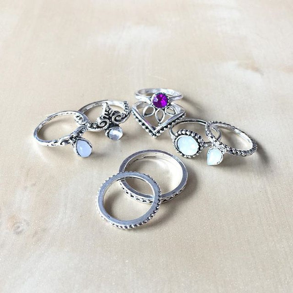 Fairy of the Moon Rings (Ring, Stacked Rings) - Chizmiiz Boutique