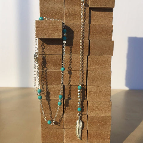 Melody Turquoise Necklace (Necklace) - Chizmiiz Boutique