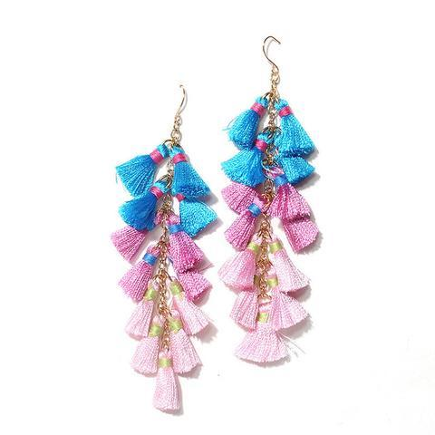 Happy Tassel Earrings (Earring) - Chizmiiz Boutique