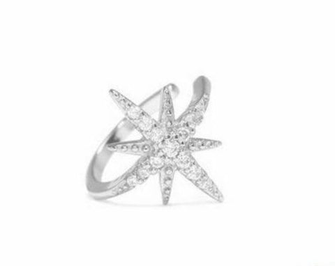 Radiant Star Ear Cuff