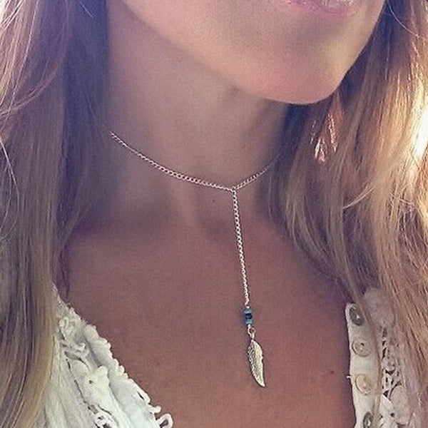 Heart Feather choker