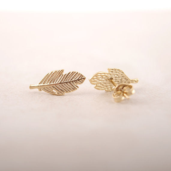 Daisy Flower Leaf Earrings (Earring) - Chizmiiz Boutique