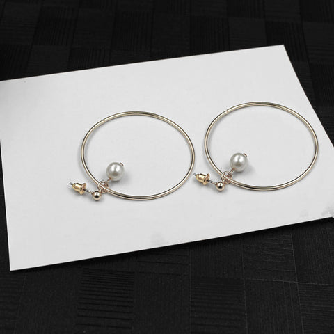Pearl in Hoop Earrings (Earring) - Chizmiiz Boutique