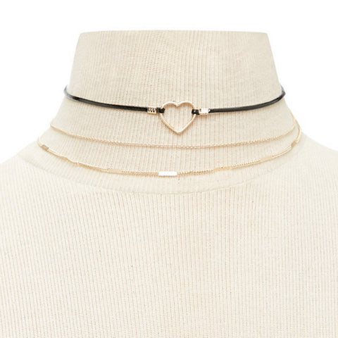 Daniela's Heart Choker (Necklace, Choker Necklace) - Chizmiiz Boutique