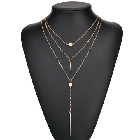 Julia's Layered Necklace (layered necklace) - Chizmiiz Boutique