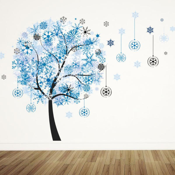 Creative Removable Wall Sticker DIY Snowflake Tree Art Mural Poster Kids Bedroom Stickers Home Art Decorative Decals