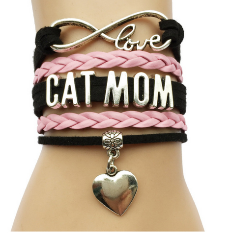 Cat Mom Braclet-Free + Shipping