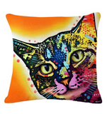 Colorful Cat Decor Pillow Covers-Free + Shipping
