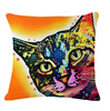 Colorful Decor Cat Pillow Covers