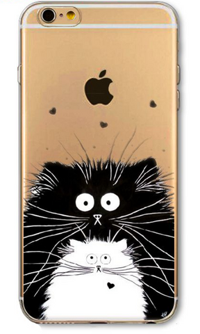 Transparent Cat iPhone Cover