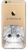 Transparent Cat iPhone Cover-Free + Shipping