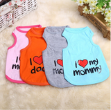 """I Love My Mommy"" Printed Dog T Shirt-Free + Shipping"