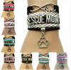 Infinity Love Rescue Mom Bracelet