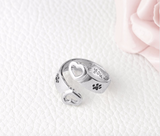 """I Will Love You Forever"" Adjustable Ring"