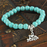 """Love My Dog"" Turquoise Charm Bracelet-Free + Shipping"
