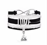 Love Dogs Fashion Braided Leather Rope Bracelet