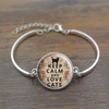 Keep Calm and Love Cats Charm Braclet-Free + Shipping!