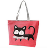 Cat Cartoon Canvas Tote Bag