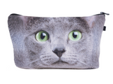 3D Cat Cosmetics Makeup Bag