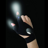 Magic Strap Fingerless Glove with LED Flashlight-Free+ Shipping