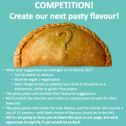 Competition! Create a new pasty flavour!