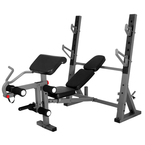 XMark-XMark XM-4424 International Olympic Weight Bench with Leg and Preacher Curl Atta-Weight Bench-PACESETTER FITNESS