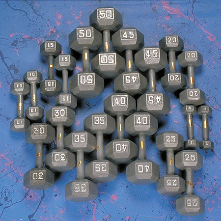 Yukon-Yukon Fitness - HDS-311 5-50 # Hex Dumbbell Set w/rack-Dumbells-PACESETTER FITNESS