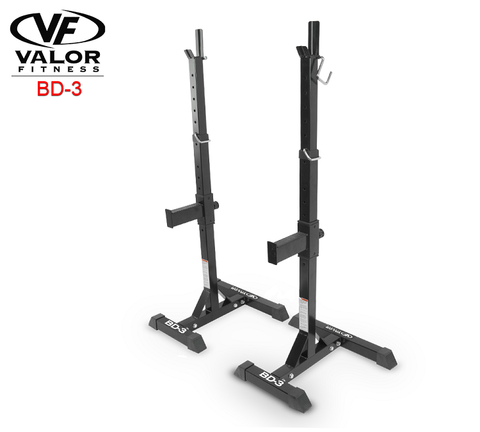 Valor Fitness-Valor Fitness BD-3 Squat Stands-Power Rack-PACESETTER FITNESS