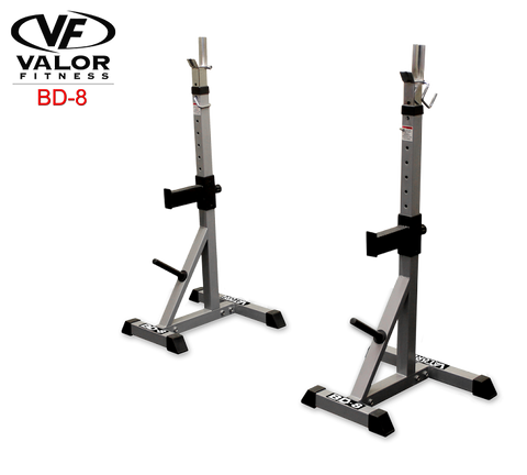Valor Fitness-Valor Fitness BD-8 Improved Deluxe Squat Stands-Power Rack-PACESETTER FITNESS
