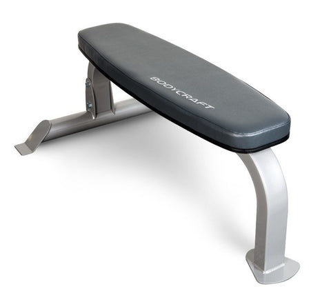 BodyCraft Deluxe Flat Utility Bench  F600 w/Wheels **Does not take Attachments** - PACESETTER FITNESS