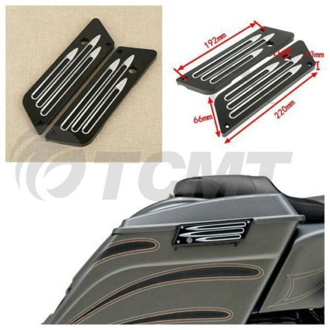 PACESETTER FITNESS-Left Right CNC Edge Cut Saddlebag Latches Cover For Harley Touring 93-13-MC-PACESETTER FITNESS
