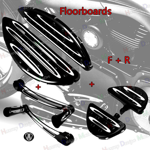 PACESETTER FITNESS-CNC Cut Floorboard Foot Board &Toe Heel Shift Lever For Harley Touring-MC-PACESETTER FITNESS