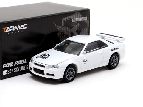For Paul Nissan GT-R R34 1/64 Diecast