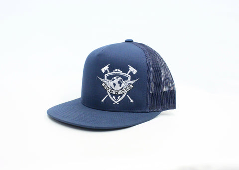 Navy Trucker Snap Back