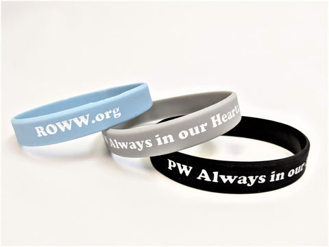 Wristbands Always in our Hearts - blue/black/grey
