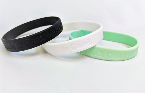 Wristbands Be Good - Black/White/Mint