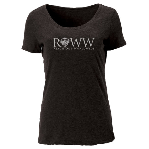 Ladies Disaster Response Tri-Blend Scoop Tee- Charcoal