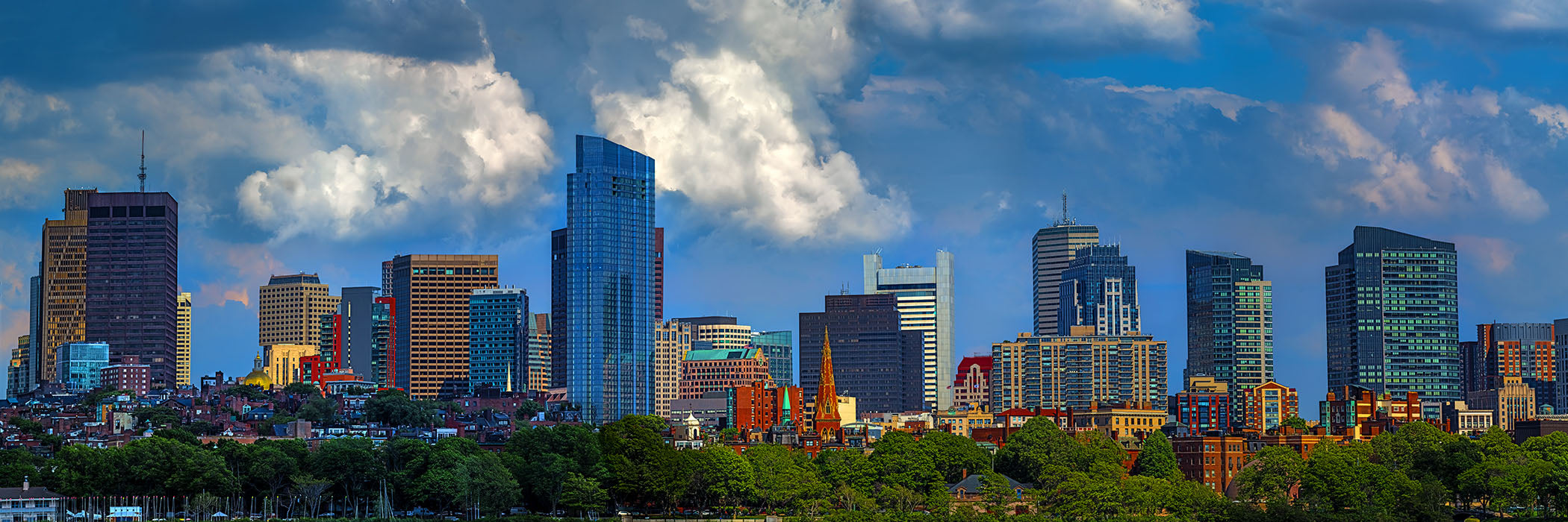 Boston skyline wall art photograph in large format