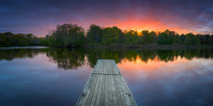 Sunset over the Charles River - Waltham, Massachusetts