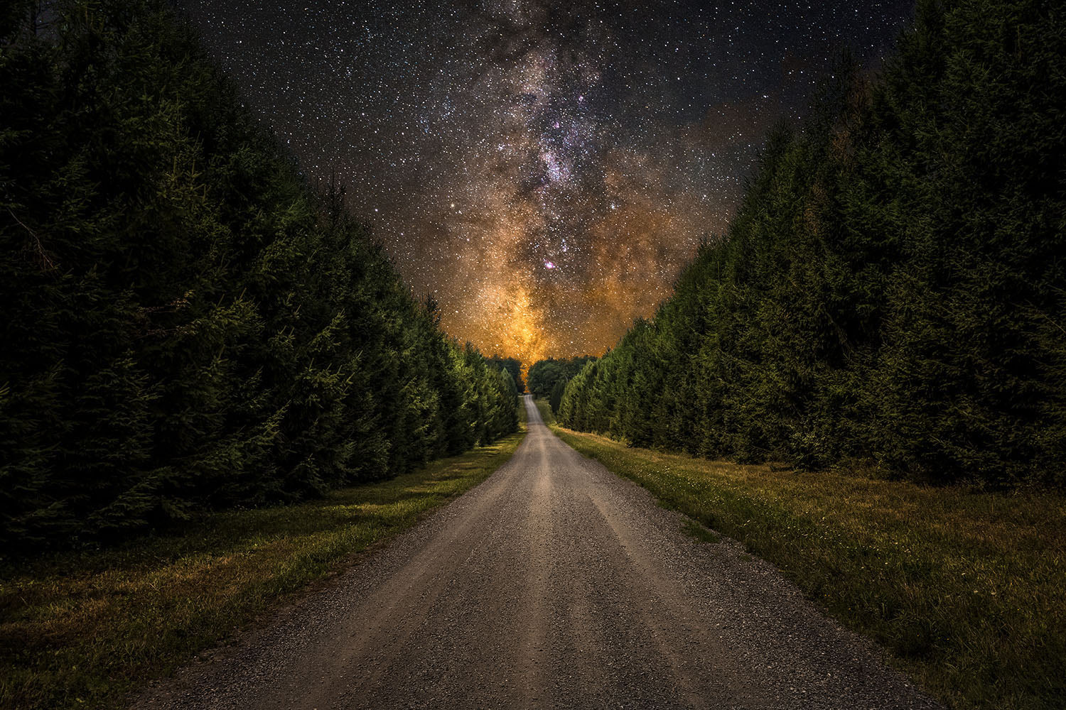 Landscape photo of the Milky Way galaxy near Cherry Springs State Park - Pennsylvania