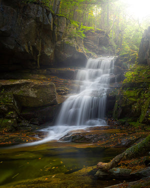 Cold Brook Falls waterfall - White Mountains, New Hampshire