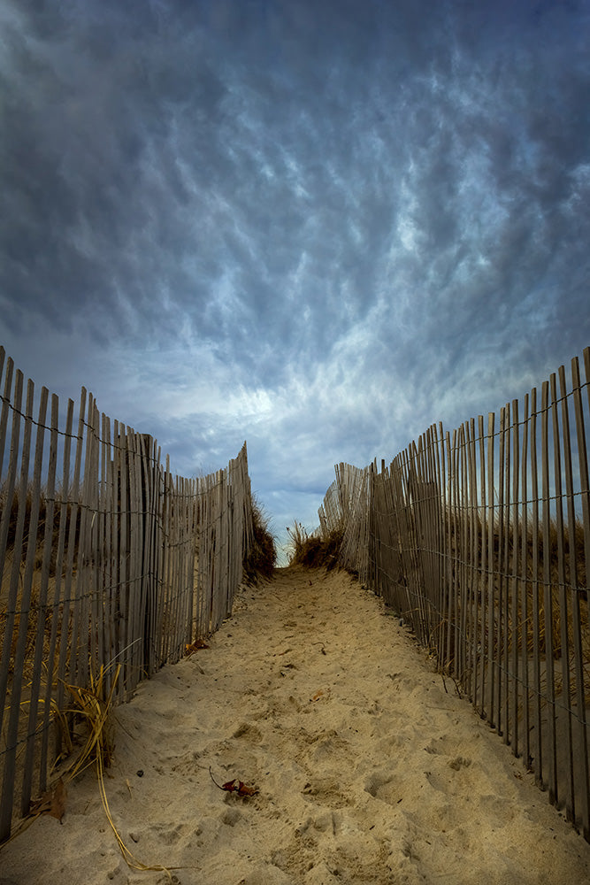 Storm clouds form over Duxbury Beach - Massachusetts