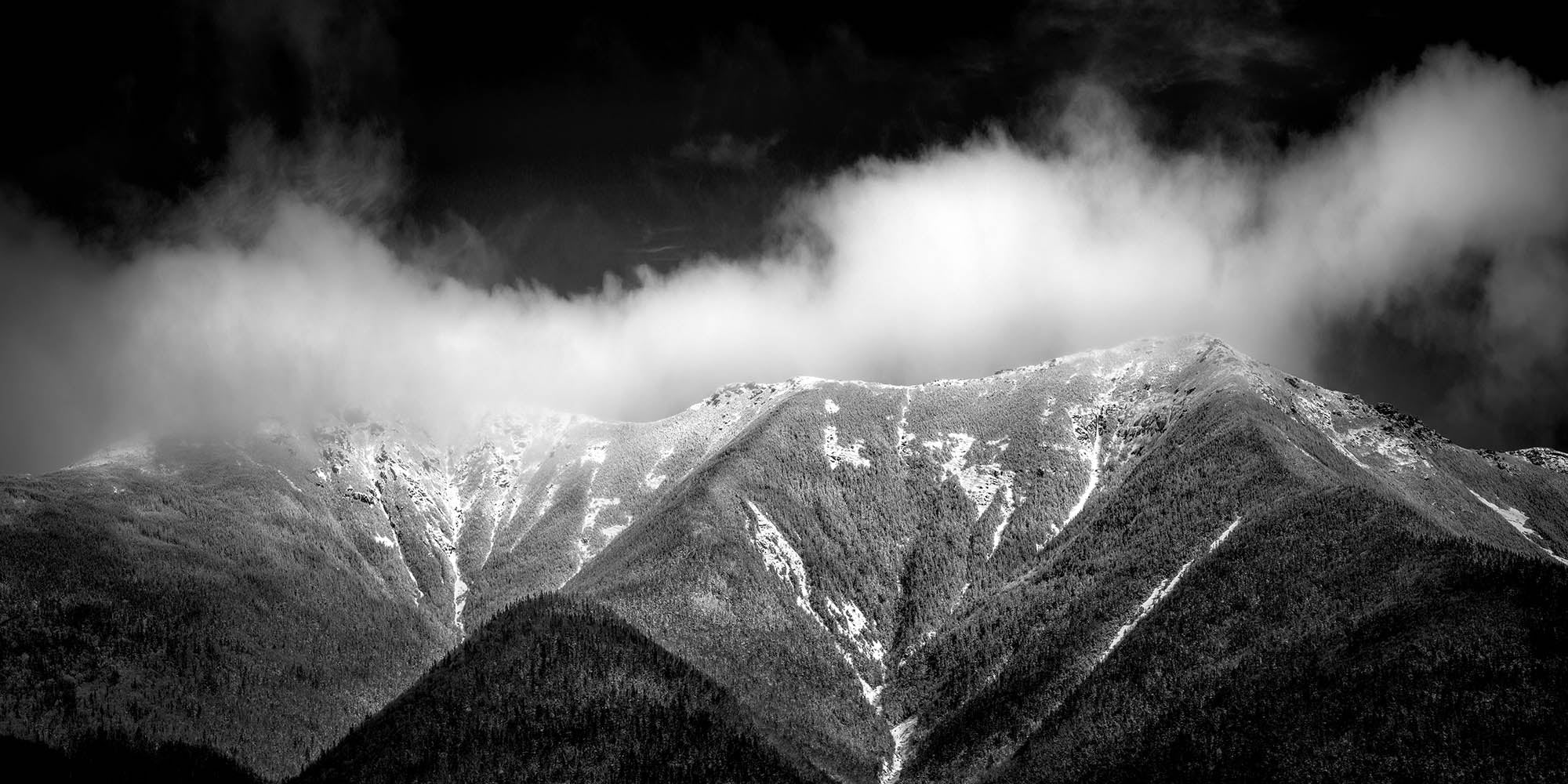 Winter storm clouds on Franconia Ridge - White Mountains, New Hampshire