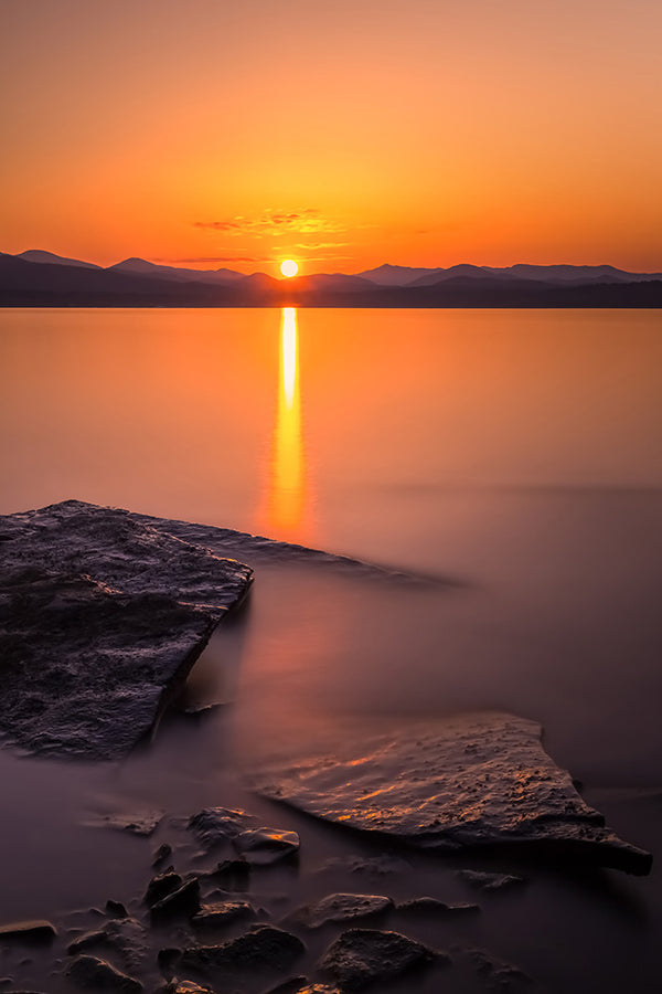Lake Champlain at sunset - Button Bay State Park, Vermont