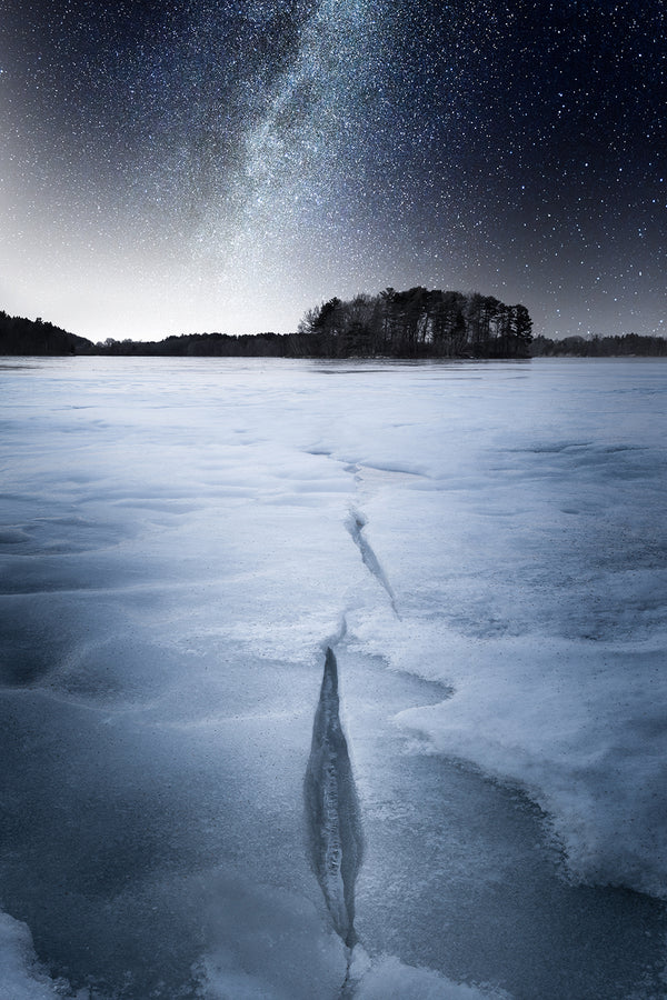 Milky Way galaxy over Spot Pond - Middlesex Fells, Massachusetts