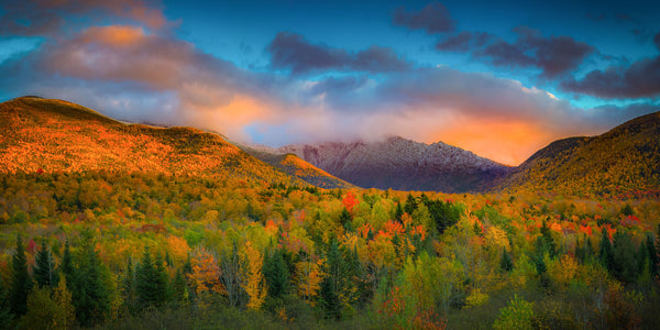 Peak fall foliage on Mount Adams - White Mountains, New Hampshire