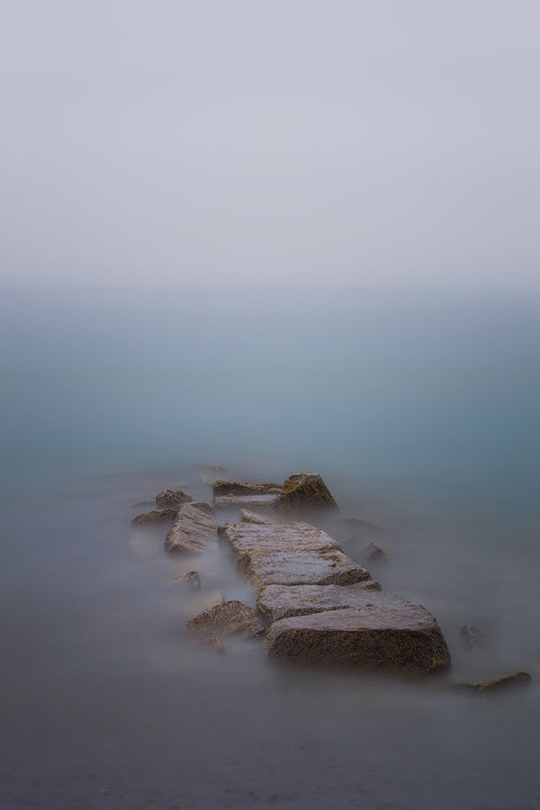 Foggy jetty long exposure - Revere Beach, Massachusetts