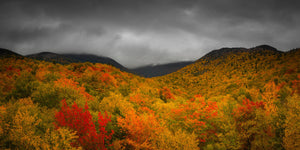 Peak fall foliage on Mount Lafayette - White Mountains, New Hampshire