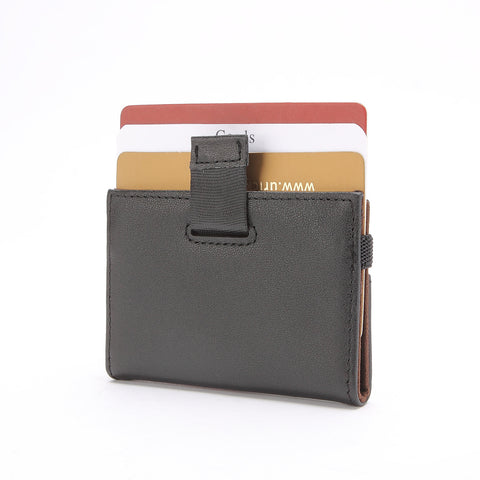 Minimalist Wallet - Tokyo Series Super Slim Mini Credit Card Case - Black