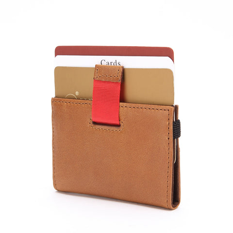 Minimalist Wallet - Tokyo Series Super Slim Mini Credit Card Case - Brown